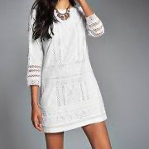 Abercrombie white lace dress